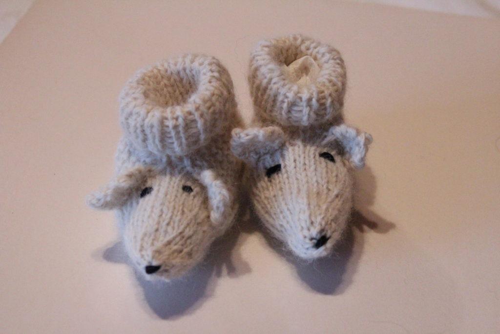 chaussons bébé en laine d'alpaga